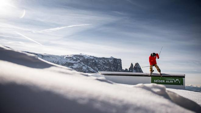 Freestyle Event-Highlights im Snowpark auf der Seiser Alm
