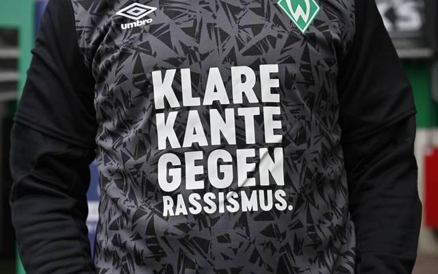 Immer wieder setzen Klubs wie Werder Bremen ein Zeichen gegen Rassismus