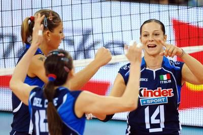 Im Finale der Volleyball-Europameisterschaft der Frauen treffen Titelverteidiger Serbien und Italien aufeinander.