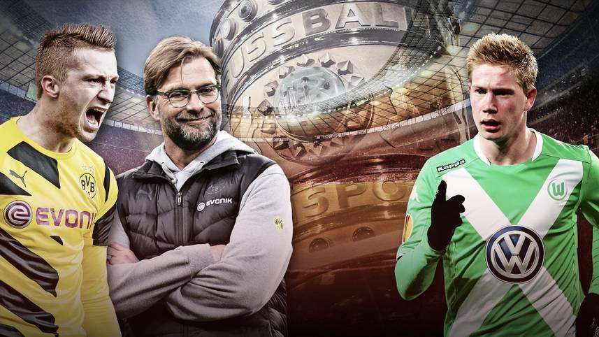 Es ist der letzte Höhepunkt einer turbulenten Saison für Borussia Dortmund und den VfL Wolfsburg. Im 72. Finale um den DFB-Pokal will der BVB seinem Trainer Jürgen Klopp einen goldenen Abschied bescheren, die Wolfsburger wollen erstmals den Pott in die Autostadt holen. Doch wer bringt mehr PS auf die Straße? SPORT1 verrät es im Head-to-Head