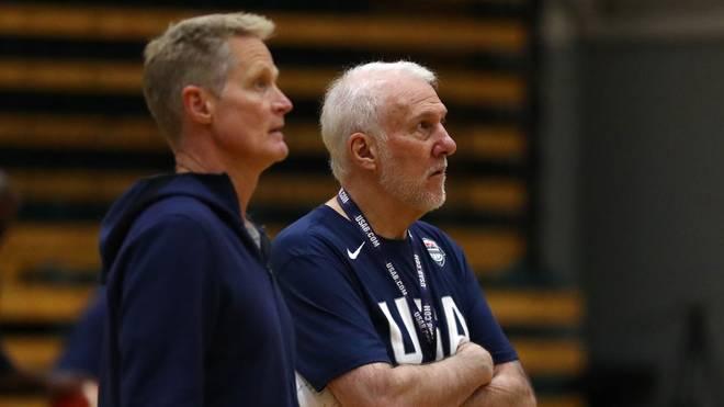 Gregg Popovich und Steven Kerr trainieren auch die US-Nationalmannschaft