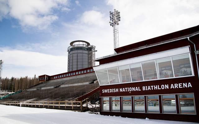 In der Biathlon-Arena in Östersund bleiben die Tribünen leer