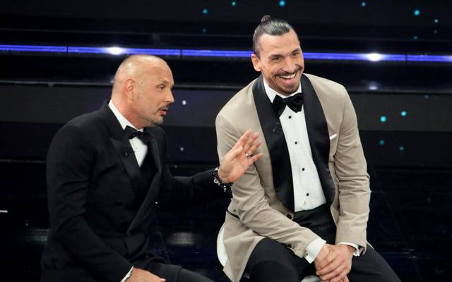 Zlatan Ibrahimovic (r.) bewies zum wiederholten Mal sein Showtalent
