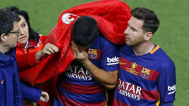 Luis Suarez musste gegen Sevilla ausgewechselt werden
