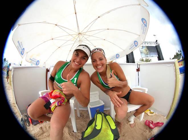 FIVB Antalya Open - Day 5 Barbora Hermannova (l.) und Marketa Slukova sind aktuell auf der Zwei der Weltrangliste