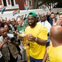 Südafrikas Rugby-Weltmeister feiern an historischer Stätte