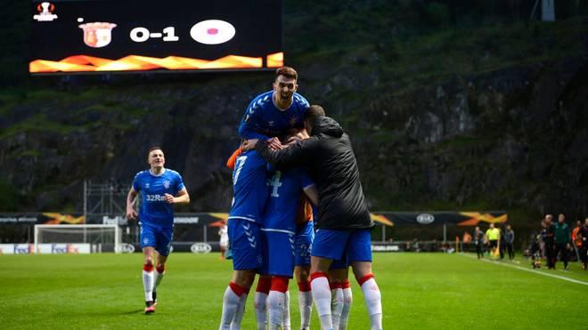 Die Glasgow Rangers erreichten das Achtelfinale der Europa League