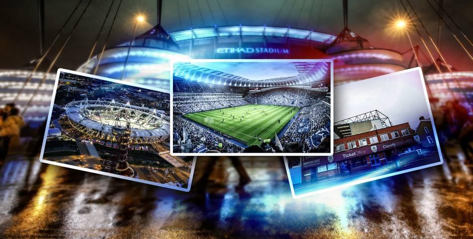 """Nachdem die Tottenham Hotspur endlich ihr neues """"Baby"""" einweihen durften, ist schon das nächste Mega-Stadion in Planung. Der FC Everton hat nun erste Bilder seiner neuen Heimstätte veröffentlicht. SPORT1 zeigt die Tempel der Premier League"""