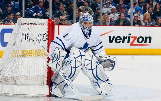 Justin Pogge stand sieben Mal für die Toronto Maple Leafs in der NHL auf dem Eis