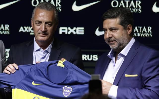 Gustavo Alfaro (l.) ist neuer Trainer von Boca Juniors