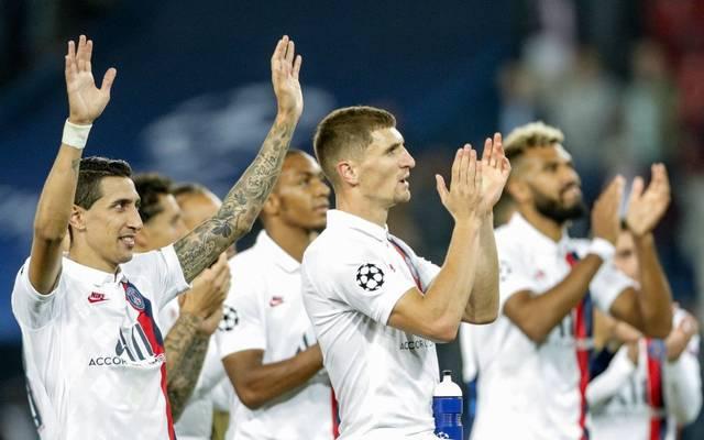 Thomas Meunier (Mitte) steht noch bis zum Saisonende bei PSG unter Vertrag