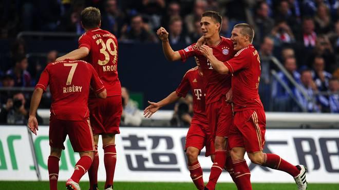 Nils Petersen (2.v.r.) erreichte in seiner einzigen Saison mit dem FC Bayern das Champions-League-Finale 2012