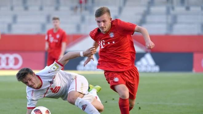 Torben Rhein in einem Jugendspiel gegen den 1. FC Köln