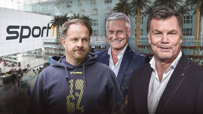 Zu Gast bei Thomas Helmer (r.) sind u.a. Alexander Zorniger (l.) und Armin Veh