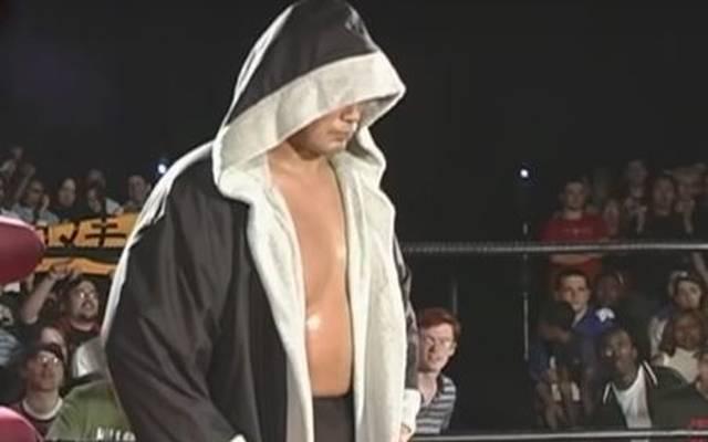 Kenta Kobashi vor seinem Match mit Samoa Joe bei ROH 2005
