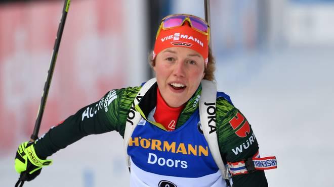 Laura Dahlmeier verpasst das Podium beim letzten Rennen vor Olympia