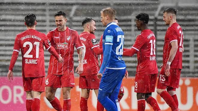 Türkgücü siegte im Schneetreiben gegen Magdeburg