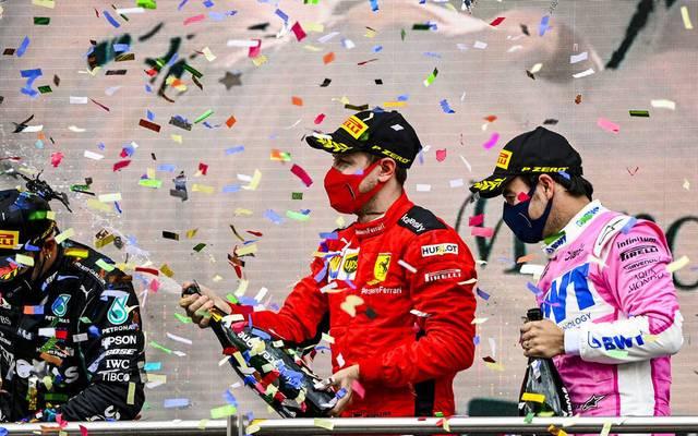 Sebastian Vettel stand in Istanbul erstmals in dieser Saison auf dem Podest
