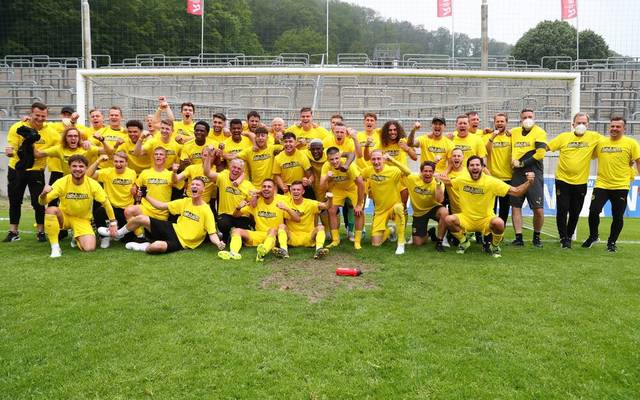 Der BVB II nach dem 2:1-Sieg gegen den Wuppertaler SV am letzten Spieltag