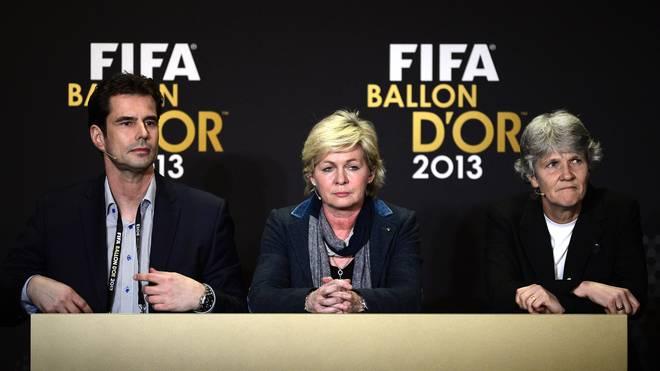 Ralf Kellermann und Silvia Neid beim Ballon d'Or 2013