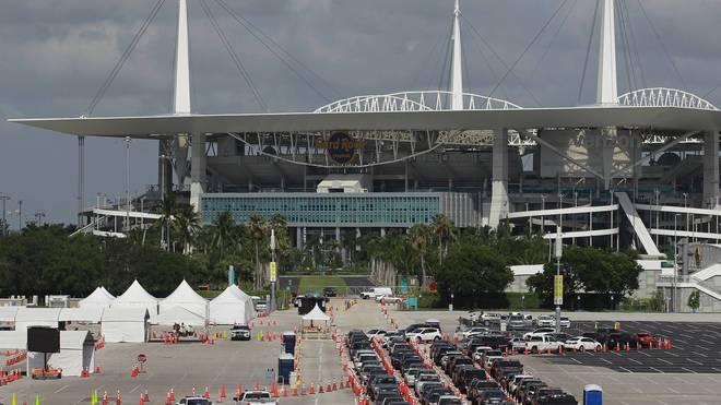 Das Hard Rock Stadium ist die Heimat der Miami Dolphins