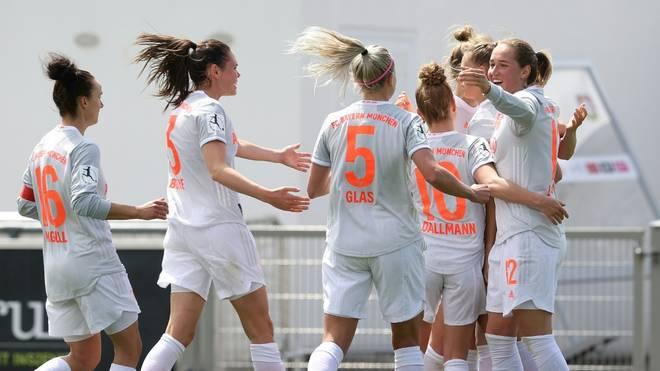 Die Bayern-Frauen stehen kurz vor der Meisterschaft