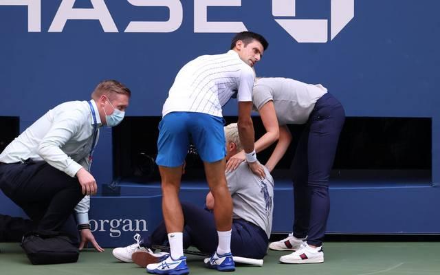 Novak Djokovic schoss bei den US Open eine Linienrichterin ab