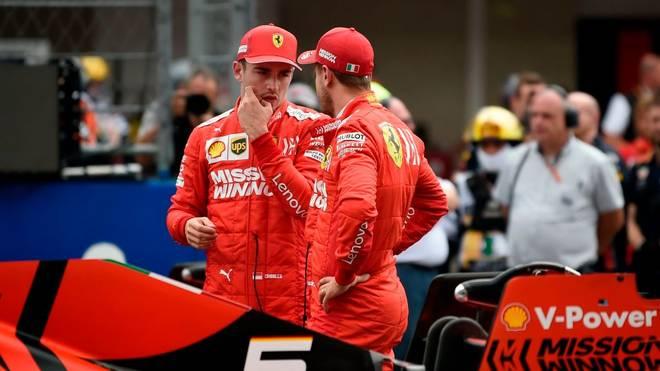Sebastian Vettel kollidierte beim Großen Preis von Brasilien mit Charles Leclerc