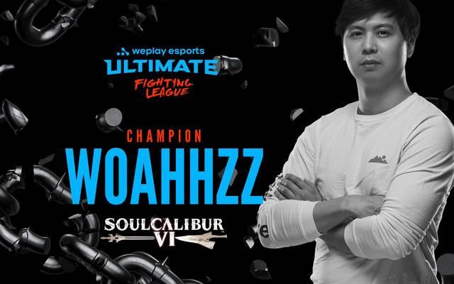 """Jonathan """"Woahhzz"""" Vo gewinnt im Zuge der weplay eSports Ultimate Fighting League das Soul Calibur VI Turnier und gewinnt ein Preisgeld von 15.000 US-Dollar"""