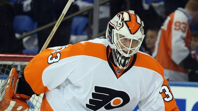 Cal Heeter im Trikot der Philadelphia Flyers
