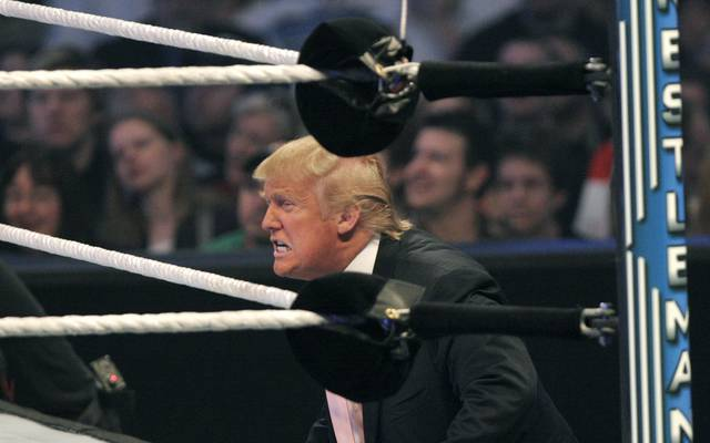 WWE Presents Wrestlemania 23 Donald Trump war in der Vergangenheit bereits öfters Gast bei WWE-Events