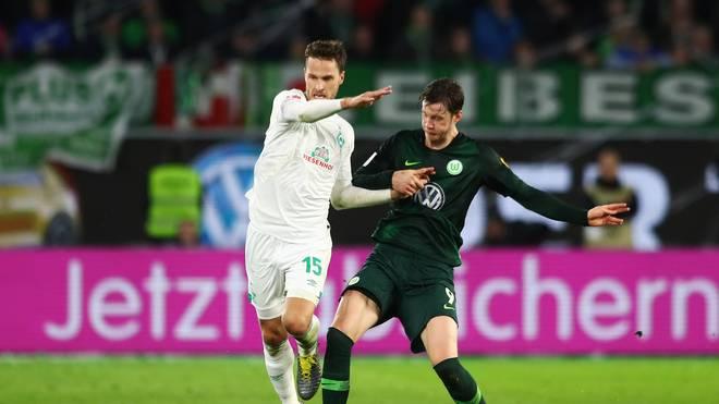 Werder Bremens Sebastian Langkamp verletzte sich am Sonntag beim VfL Wolfsburg