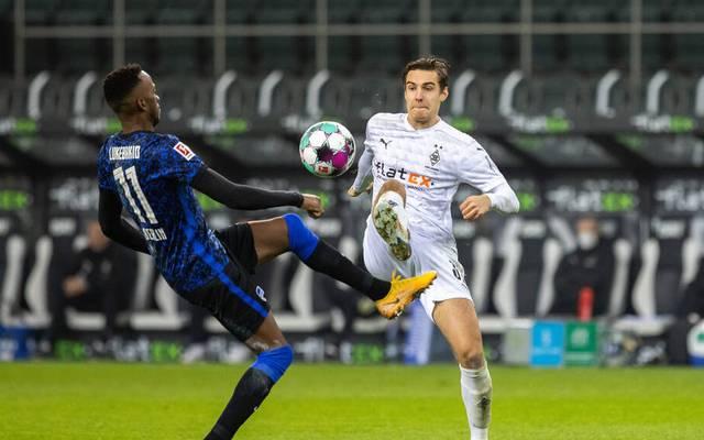 Florian Neuhaus bereitete mit seinem Traumpass das 1:1 von Borussia Mönchengladbach gegen Hertha BSC vor