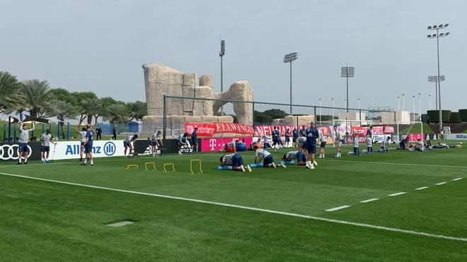 Der FC Bayern weilt zum Trainingslager in Doha