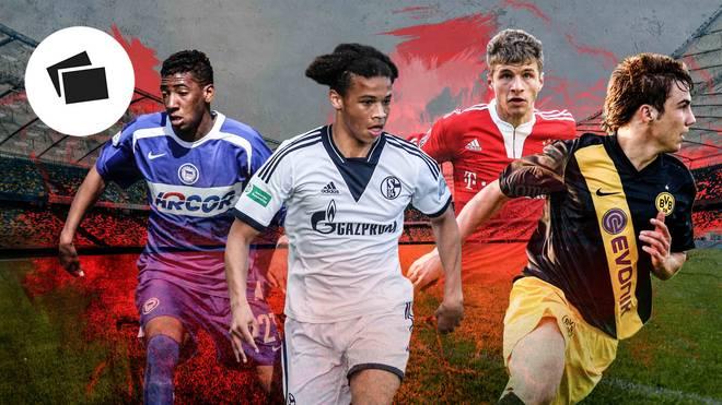 Leroy Sané (2.v.l.) konnte mit dem FC Schalke 04 einmal die Meisterschaft in der A-Junioren -Bundesliga holen