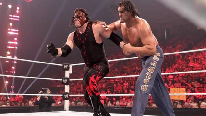 Kane (l.) und The Great Khali ziehen in die WWE Hall of Fame ein