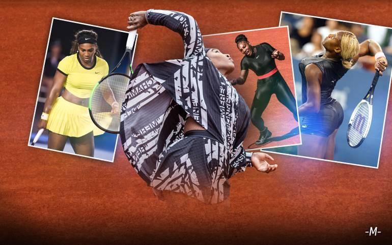 Auch beim zweiten Höhepunkt der Tennis-Saison in Paris lässt Serena Williams wieder modetechnisch aufhorchen. Bei den French Open zeigt sie sich erneut in auffälligem Dress. SPORT1 zeigt die schrillsten Outfits des Tennis-Megastars