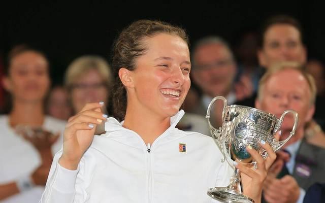 Iga Swiatek gewann 2018 bei den Junioren in Wimbledon