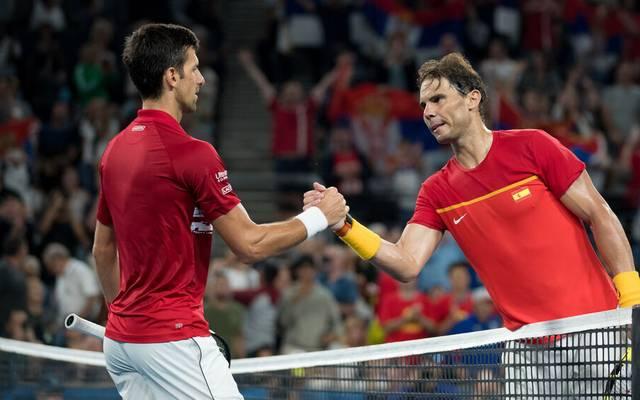 Novak Djokovic und Rafael Nadal stehen sich im French-Open-Finale gegenüber