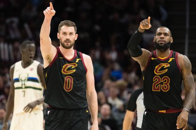 Kevin Love und LeBron James spielten vier Jahre zusammen bei den Cleveland Cavaliers