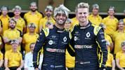 Nico Hülkenberg wird von Renault mit Perücken verabschiedet