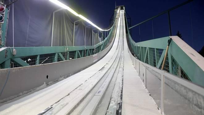 Hier wird heute nicht mehr gesprungen, der Wettbewerb in Kuusamo wurde abgesagt