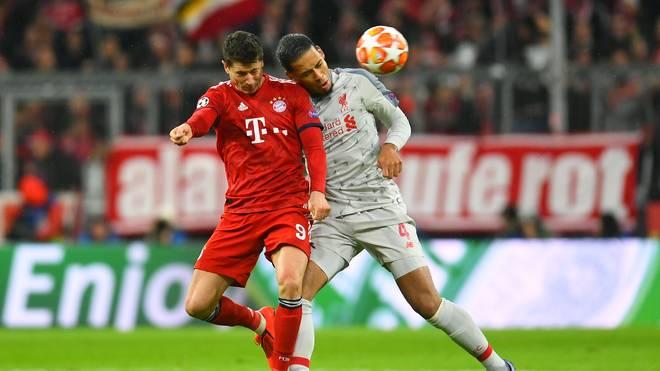 Bayern-Stürmer Robert Lewandowski fand in Liverpools Virgil van Dijk seinen Meister