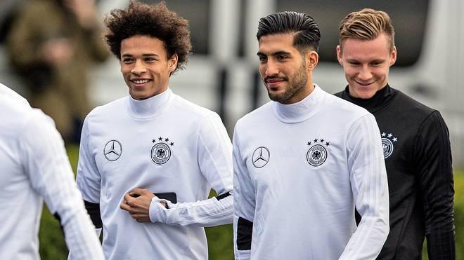 Leroy Sane, Emre Can und Bernd Leno beim DFB-Team