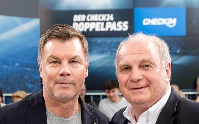 Thomas Helmer begrüßt zum CHECK24 Doppelpass wöchentlich illustre Gäste