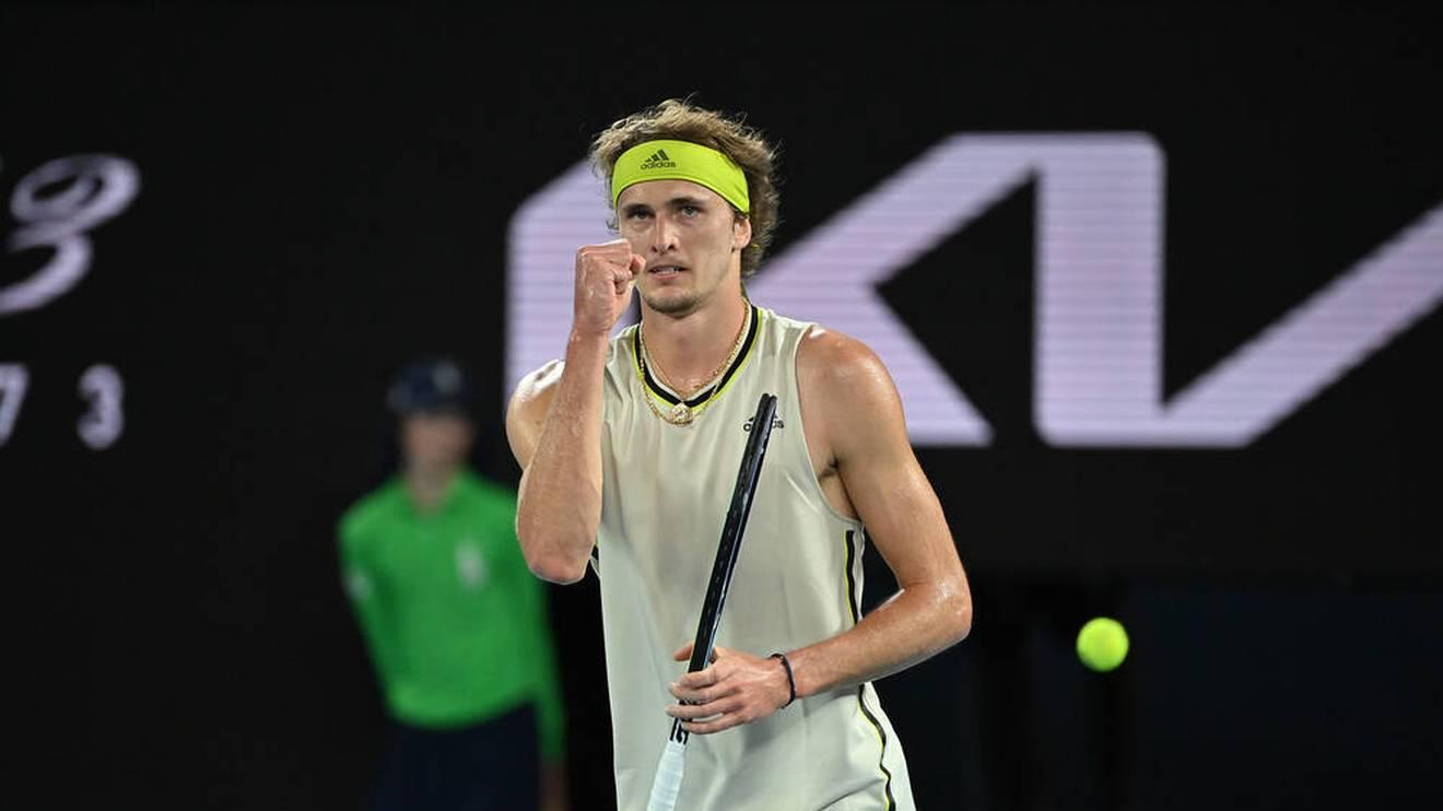 Alexander Zverev scheiterte bei den Australian Open 2021 im Viertelfinale an Novak Djokovic