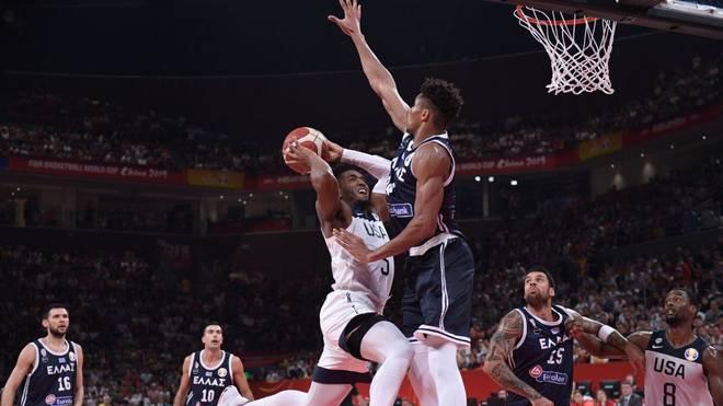 Griechenland um Giannis Antetokounmpo hat gegen die USA verloren