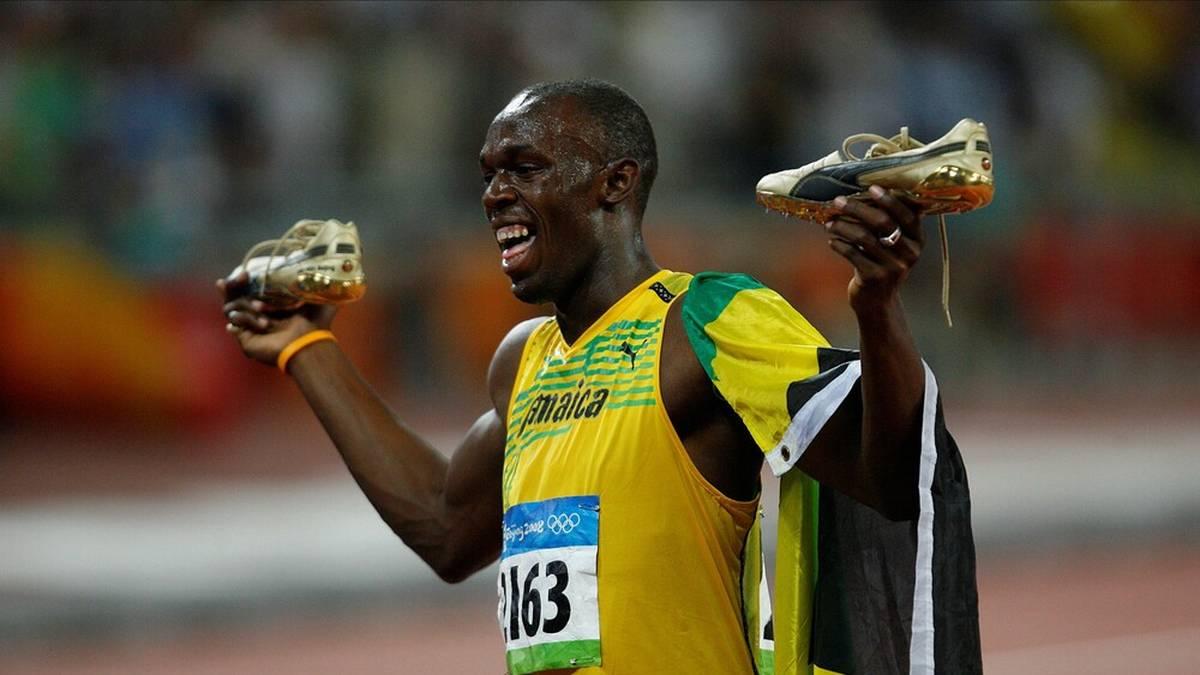 Usain Bolt holte in Peking sein erstes Gold-Triple - das heute nur noch Gold-Double ist