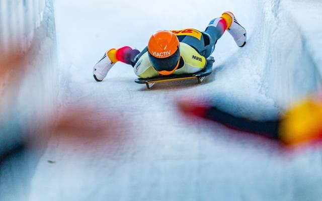 Jacqueline Lölling fährt zum Sieg bei der Skeleton-WM