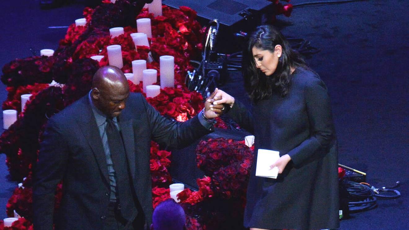 Vanessa Bryant und Michael Jordan hatten sich bereits bei der Beerdigung von Kobe Bryant unterstützt